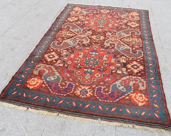 turkish rug, turkish rug vintage, rug handwoven turkish, turkish oushak rug, rug large vintage rug, floor and rugs,