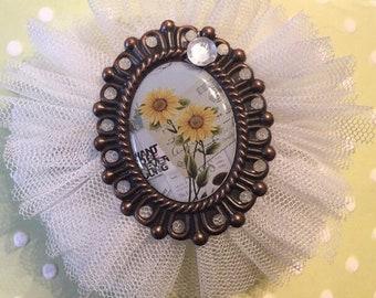 Hair clip/ brooch handmade