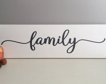 Family Sign - Wood Sign - Anniversary Gift - Farmhouse Decor - Family Wall Decor - Wood Family Sign - Rustic Family Sign