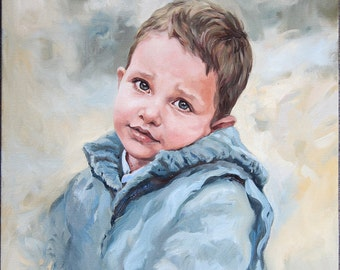 Custom Oil Portrait, an Original Oil Painting  from photography