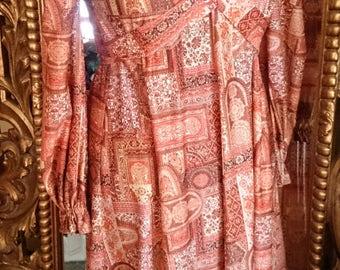 Vintage 1960's Bohemian Maxi Dress