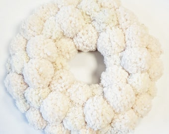 Custom Large Pom Pom Wreath / Wall Hanging