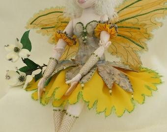 fairy ooak art cloth doll