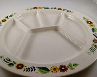 Mid Century Fondue Plate