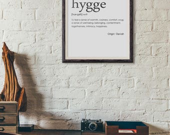 A4 Hygge danish print, dictionary style