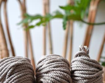 Light beige macrame rope, cotton rope, macrame rope, cotton cord 5 mm, macrame cord, 5mm cotton twisted rope, cotton rope macrame, diy rope