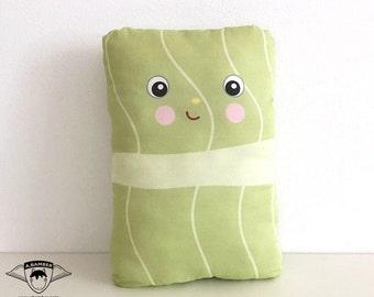 Holubtsi (Ukrainian Stuffed Cabbage Roll) Throw Pillow - Male- Cute Fabric Food made by Adrianna Bamber