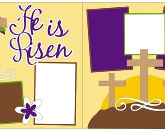 "Scrapbook 2 Page Kit ""He is Risen"""