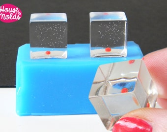 2 Cubes Silicone mold-mold to make 2 resin cubes 15 mm-House Of Molds-shiny resin creations