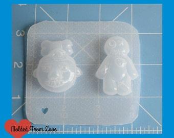 SALE Amanda's Smaller Size Shrunken Head and Voo Doo Doll Handmade Plastic Mold