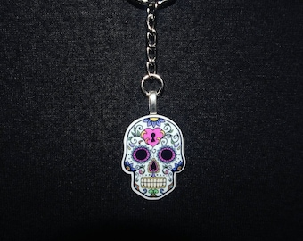 NEW ** Day of the dead keyrings 4 different designs
