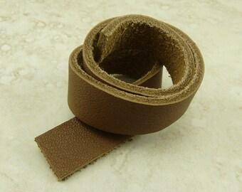 1 TierraCast Leather Strap - Taco Sienna Spice Burnt Brown 10 Inch x 1/2 Inch 25.5cm x 13mm - Jewelry Bracelet Design I ship Internationally