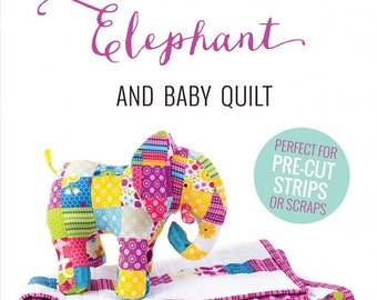 Baby Quilt PATTERN - Patchwork Elephant - AG102