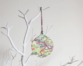 Personalised Bauble Map Christmas Decoration - Choose your Location