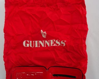 Vintage 1980's Guinness Advertising Travelling Shopping Bag & Coin Purse