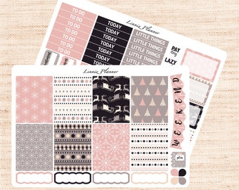 Soft Winter Little Weekly Kit (matte planner sticker, fits perfect in Erin Condren Life Planner Vertical)