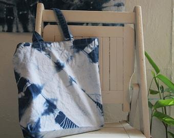 Indigo Dyed Canvas Tote Bag 1