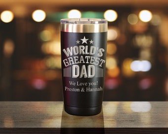 Fathers Day Gift, Gift For Him, Personalized Tumbler, Coffee Mug, Gift For Dad, New Dad Gift, Worlds Greatest Dad PTST007