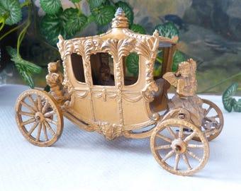 Lesney Queen's Gold Coronation Carriage England Vintage Souvenir Toy