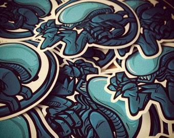 Alien Die Cut Vinyl Sticker