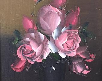 Decorative Rose Flower Still Life Painting