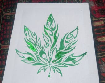 Tribal leaf canvas
