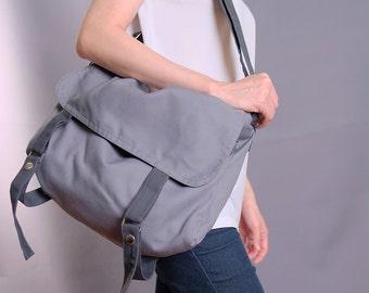 Mole Gray Messenger/school/purse/handbags/casual/totes/messenger/shoulder/bags/for her/for him/women/men-080