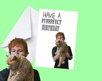 Ed Sheeran Birthday Card - Digital Download