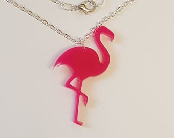 Flamingo Silhouette necklace - Acrylic
