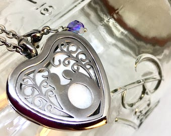 Mother and Child essential oil locket necklace