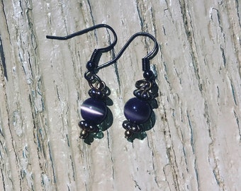 Purple Antique Earrings