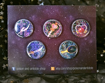 "Holo Outer Senshi in Space 1.25"" Button Pack"