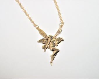 Fairy Necklace, Fairy Jewelry, Princess Fairy, Gold Necklace, Gold Jewelry, Fairy Tale Necklace, Fairy Tale Jewelry, Tinker Bell