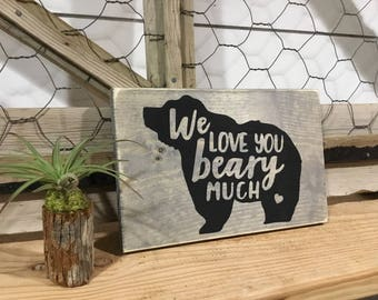 Stocking Stuffer - Gifr for Mom - Gift for Dad - Gift for Grandparents - Bear Sign - Rustic Nursery Decor - Bear Decor - Gift for Grandma