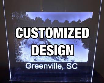 Laser Engraved LED Sign