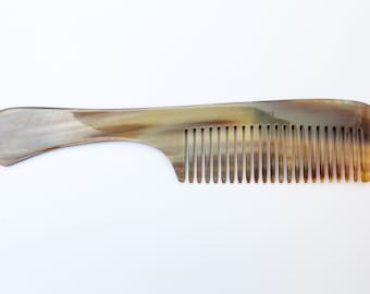 Sale  - Two Pieces of C004 Hair Comb Handmade From Cattle Horn
