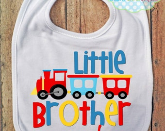 Train Little Brother BIB - Baby Boy - Baby Bib