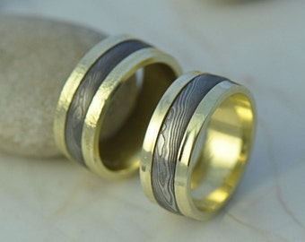 wanelo wedding rustic band on shop chunky forged copper thick ring domed hammered rings