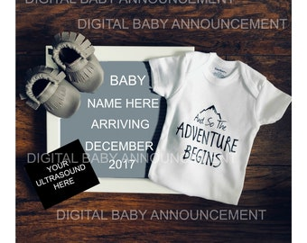 Digital Baby Announcement