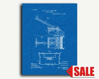 Patent Print - Lawn Mower Patent Wall Art Poster