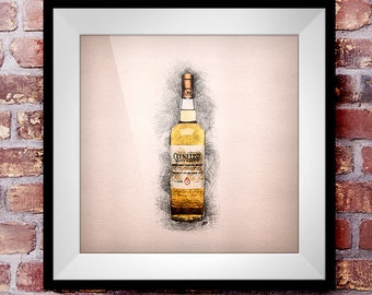 Clynelish Select Reserve - Crosshatch Whisky Wall Art
