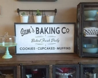Bakery Sign - Personalized Baking Sign - Custom Bakery Sign - Wooden Bakery Sign - Baking Company Sign
