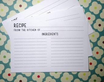 Recipe Cards- Set of 50- Super Cute-New Design