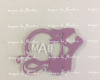 5 Clear acrylic BALLET SHOES MONOGRAMABLE Key chain blanks