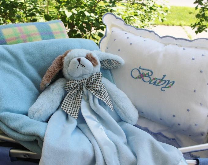 Baby Boy Personalized Gift Set, Personalized Swiss Dot Baby Pillow Plus  Bearington Baby Snuggler, Newborn Gifts, BabyShower Gifts