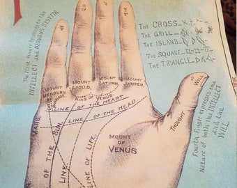 Palmistry guide poster