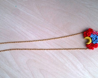 Sailor moon inspired roses necklace
