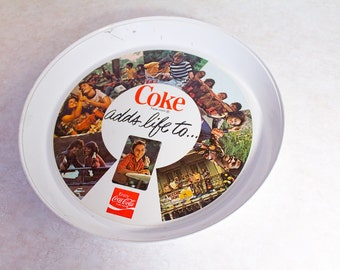 70s Coca Cola Thermo-Serv Tray - Vintage Coke Collectible - Coke adds life to...