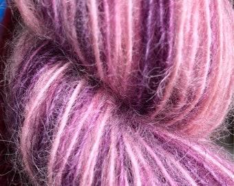 Verbena * hand-dyed mohair blend yarn