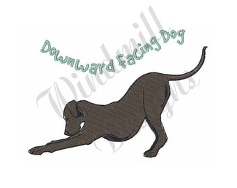 Downward Dog - Machine Embroidery Design